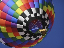 Multi-Colored Hot Air Balloon
